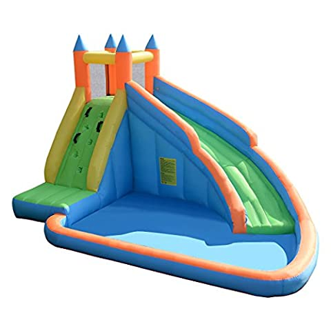Costzon Inflatable Slide Bouncer Castle Bounce House Without Blower - Bounce Houses Water Slides