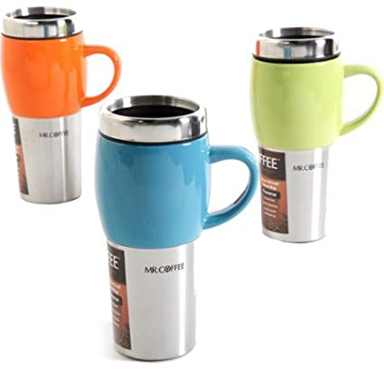 315762478d8 Image Unavailable. Image not available for. Color  Mr. Coffee Traverse 16  oz Travel ...