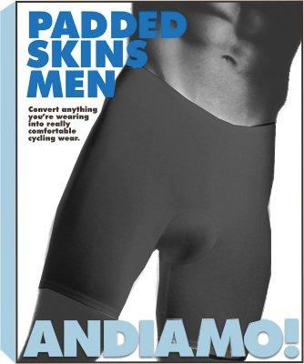 Andiamo Mens Padded Skins, Lg, ()