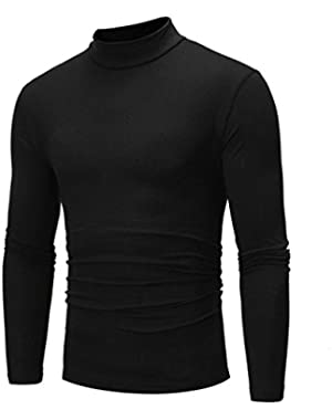 Pervobs Long Sleeve Shirts, Big Promotion! Men's Autumn Long Sleeve O-Neck Stretchy Turtleneck T-shirt Top Sweatshirt...