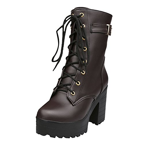 Martin Brown Buckles Shoes Platform Women's Boots Carol BxqCpRZwn