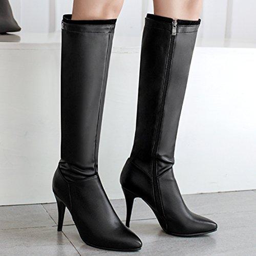 AIYOUMEI Women's Classic Boot Black 83Duo