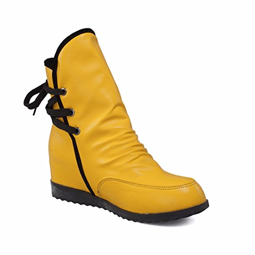 RFF-Women's Shoes High boots lace up Booties female code after The autumn and winter fashion Yellow (Terry) ezGKffF40