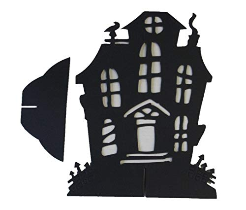 Scary & Non Scary Halloween Decorations (Haunted Silhouette Table Centerpieces #3) -