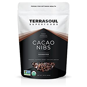 Terrasoul Superfoods Raw Organic Criollo Cacao Nibs, 1 Pound