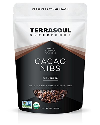 - Terrasoul Superfoods Raw Organic Criollo Cacao Nibs, 1 Pound