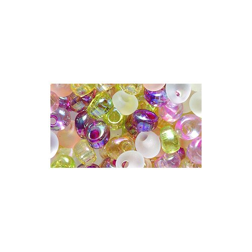 Miyuki Magatama Seed Bead, 4mm, Drop Mix, Tango, 9-Gram/Pack