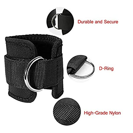 Barbell Pad for Hip Thrusts 2 Gym Ankle Straps 2 Squat Pad Safety Straps and Carry Bag Gymletics 7 Pack Barbell Squat Pad for Standard Set Hip Exercise Band