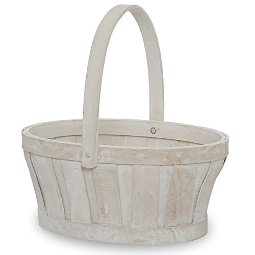 (The Lucky Clover Trading White Wash Oval Woodchip Handle, 9