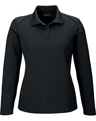 Extreme Armour Eperformance Snag Protection Long Sleeves Polo (75111) -BLACK 703 -S