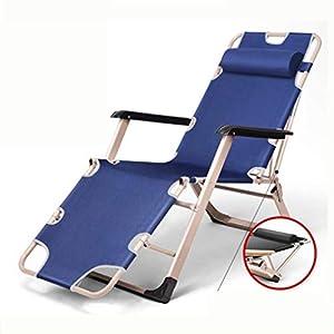 MXueei Regolabile Poltrona Chaise, con poggiatesta Sedia gravità bracciolo reclinabile Lounger Zero Nap Bed Sedia… 4 spesavip