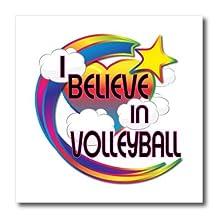 Dooni Designs - Believe In Dreamy Belief Designs - I Believe In Volleyball Cute Believer Design - Iron on Heat Transfers