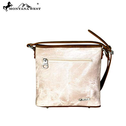 8360 West Womens Tan Purse Crossbody Collecction Montana Embroidered MW701 pPwxpq