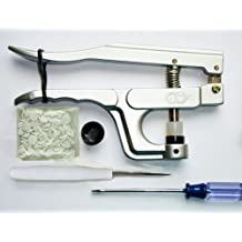 Bundle - 2 items: KAM Snap Pliers Hand Press Setter Tool and 50 KAM Snaps, White Plastic Snaps by KAM
