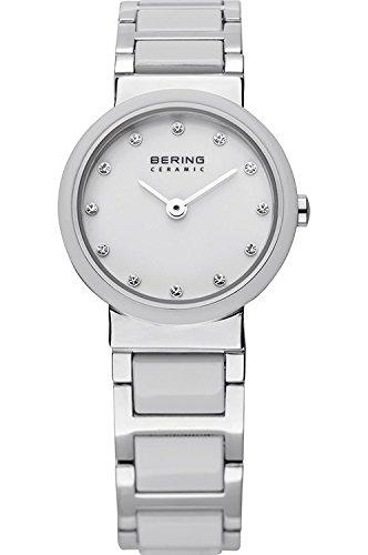 BERING Ceramic Analog White Dial Women #39;s Watch 10725 754