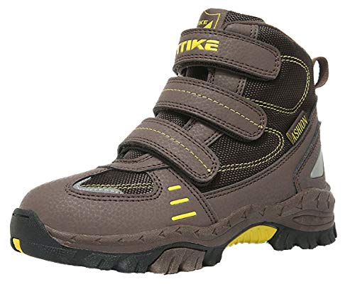 Elaphurus Kids Mid Hiking Boots Winter Snow Boots Outdoor Backpacking Shoes Warm Shoes(Little Kid/Big Kid) for $<!--$36.99-->