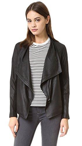 BB Dakota Women's Kenrick Soft Leather Jacket, Black, X-Small (Bb Dakota Leather Jacket)