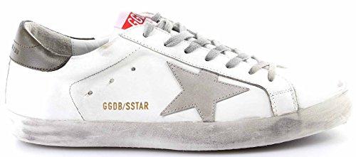 GOLDEN GOOSE Zapatos Hombres Sneakers Superstar White Military Green Piel Nuevo