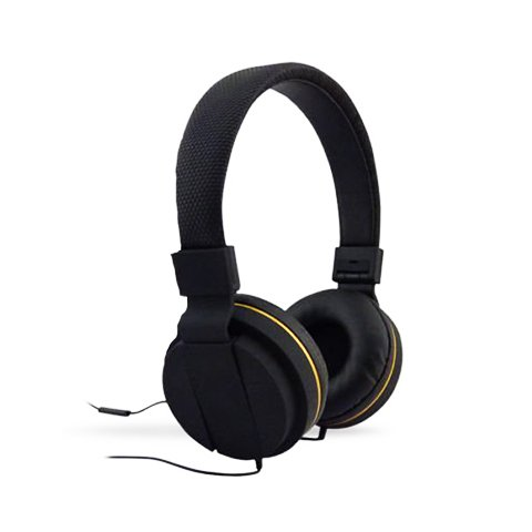 - Black Diamond Pro: Deluxe Stereo Headphones with Mic (Black with Gold)