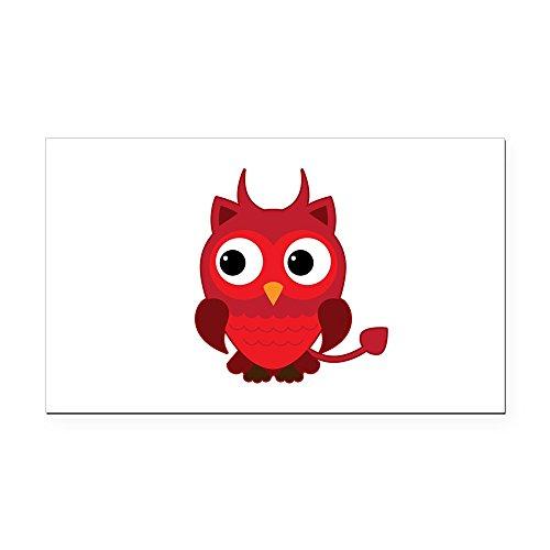 (Rectangle Car Magnet Little Spooky Owl Devil Monster)