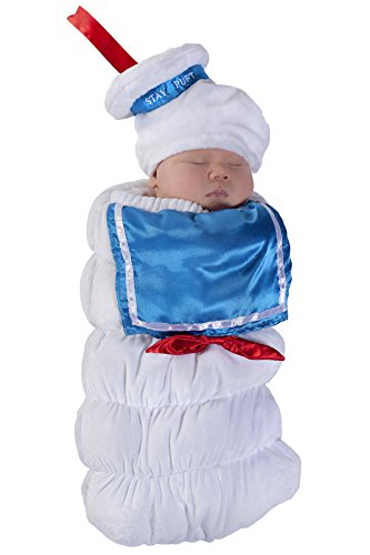 Man Marshmallow Baby Costume (Princess Paradise Baby Ghostbusters Stay Puft Swaddle Deluxe Costume, As Shown,)