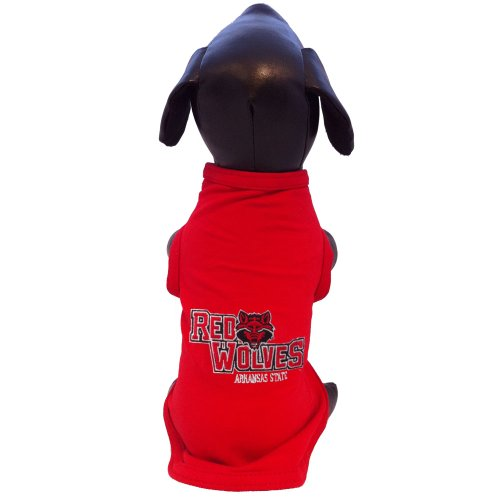 All Star Dogs NCAA Arkansas State Red Wolves Cotton Lycra Dog Tank Top, Small