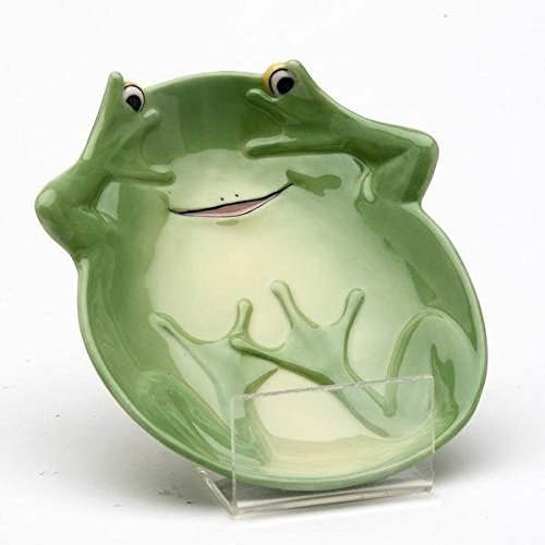 5.25 Inch Long Playful Smiling Fairy Frog Candy Dishes, Set of 2 (Dish Frog Candy)