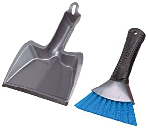 Carrand 92034 Grip Tech Deluxe Dust Pan with Heavy Duty Brush