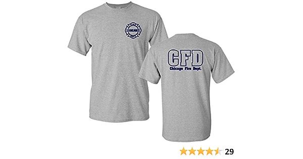 Gildan Chicago Fire Departamento Camiseta de Cruz de Malta