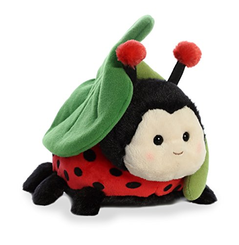 Plush Little Ladybug (Aurora World Rainy Day Buddies Stuffed Animal, Red, 7.5