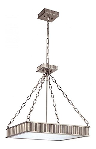 Historic Nickel Five Light Pendant from the Middlebury Collection (Middlebury Pendant Lighting)