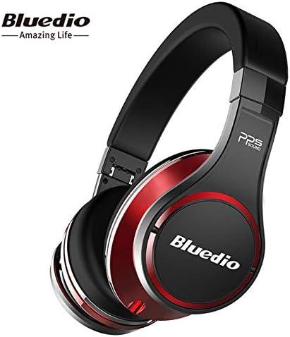 Bluedio U(UFO) - Auriculares de Diadema inalámbricos con Sonido 3D de Alta Gama patentados con 8 Conductores y Auriculares Bluetooth Integrados para teléfono