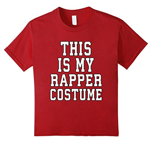 Rapper Girl Costume (Kids This Is My Rapper Costume Halloween TShirt 8 Cranberry)