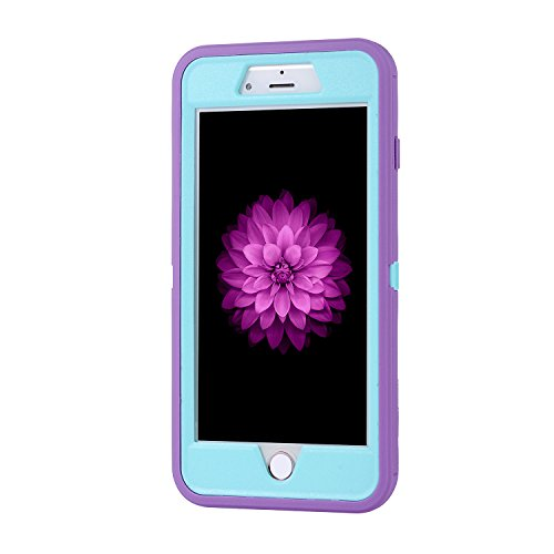 iPhone 7 Plus 5.5 inch Case, Yadik Shock Absorption Heavy Duty Military Grade Hybrid Silicone PC Case for iPhone 7 Plus (Purple Blue) Photo #5