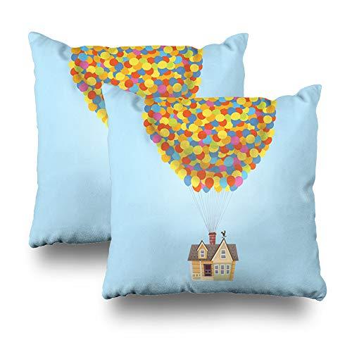 Darkchocl Set of 2 Decoration Throw Pillow Covers