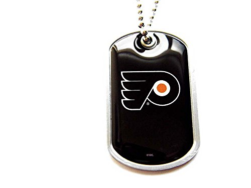NHL Philadelphia Flyers Sports Collegiate Team Logo Dog Tag Domed Necklace Charm Chain