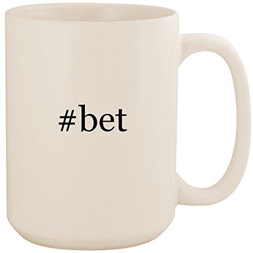 #bet - White Hashtag 15oz Ceramic Coffee Mug ()