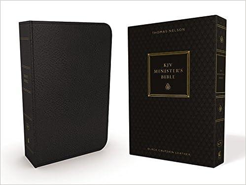 KJV, Minister's Bible, Genuine Leather, Black, Comfort Print