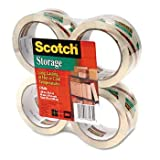 Scotch® Mailing & Storage Tapes TAPE,STOR,2''X55YD,4/PK,CR 99001 (Pack of5)