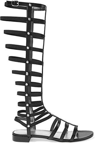 FYM mujer de Sintético Material negro para Schuhe Chanclas 1rxSqv1
