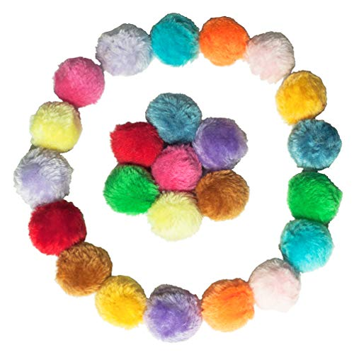 Fashion's Talk Cat Toys Furry Rattle Ball for Kitty 12 Pack