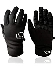 Winter Gloves Men Women Touchscreen Waterproof, Running Cycling Liner Fleece Pair