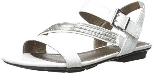 LifeStride mujeres de Encantar Flat Sandal White cano
