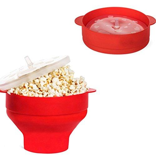 Popcorn Bucket,Elevin2017 New Popcorn Bucket Microwaveable P