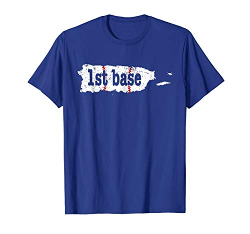 1st Base Coach 1st Base Softball Shirt Puerto Rico
