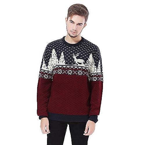 v28 mens christmas reindeer snowman penguin santa and snowflake sweater x large reindeerfs