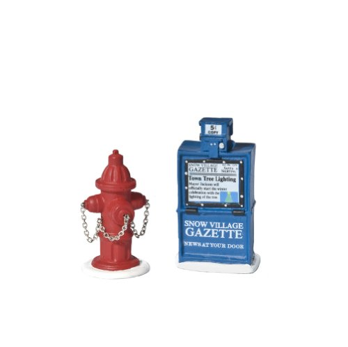 - Department 56 Accessories for Villages Fire Hydrant and Newspaper Box Accessory Figurine (Set of 2)
