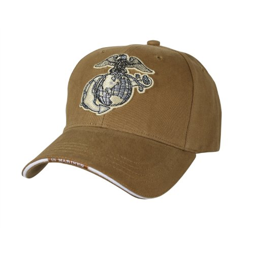 b88f616f432 USMC Coyote Brown Marine Corps Logo Cap - Import It All