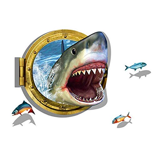 3D Submarine World under sea Unique Decor Removable Wall Art Sticker Decal Home Kid Room Decor and Wall Decor (shark)