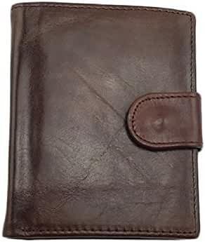 NEWTALL Men's Genuine Leather Multi-Card Folded Vintage Bifold Short Type Wallet